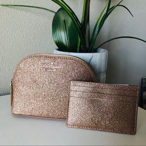 Kate Spade Joeley cosmetic bag & Cardholder NWT
